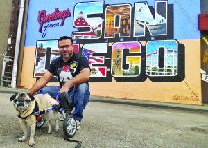 Dottie with Ronnie in San Diego